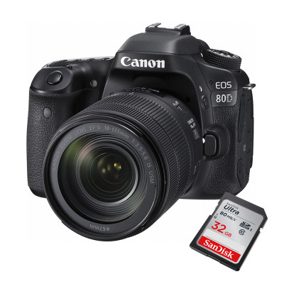 Cámara Canon Eos 80d Kit 18-135  24,2 Mpx Full Hd + 32GB