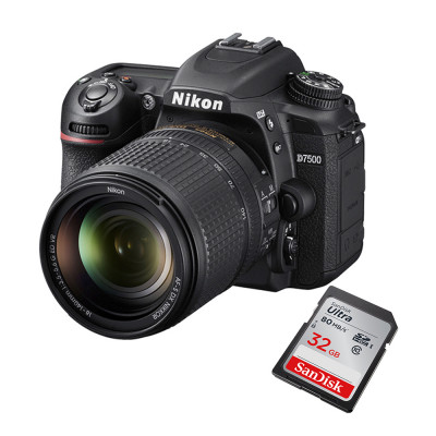 Cámara Nikon D7500 Kit 18-140mm Vr Full Hd Wif + 32GB